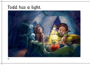 Todd has a light